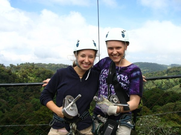 My first zip line experience!