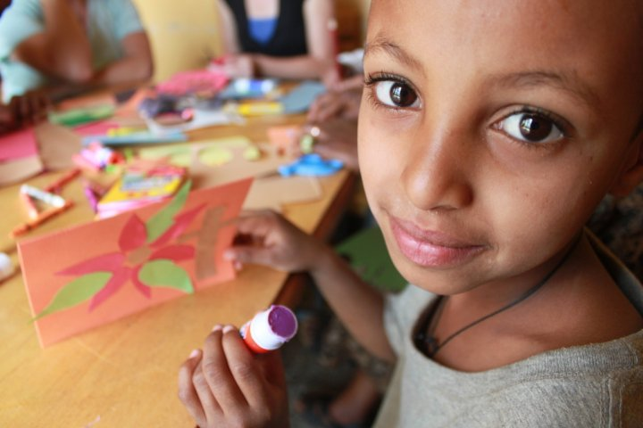 Yenege Tesfa~a beautiful home caring for AIDS orphans.