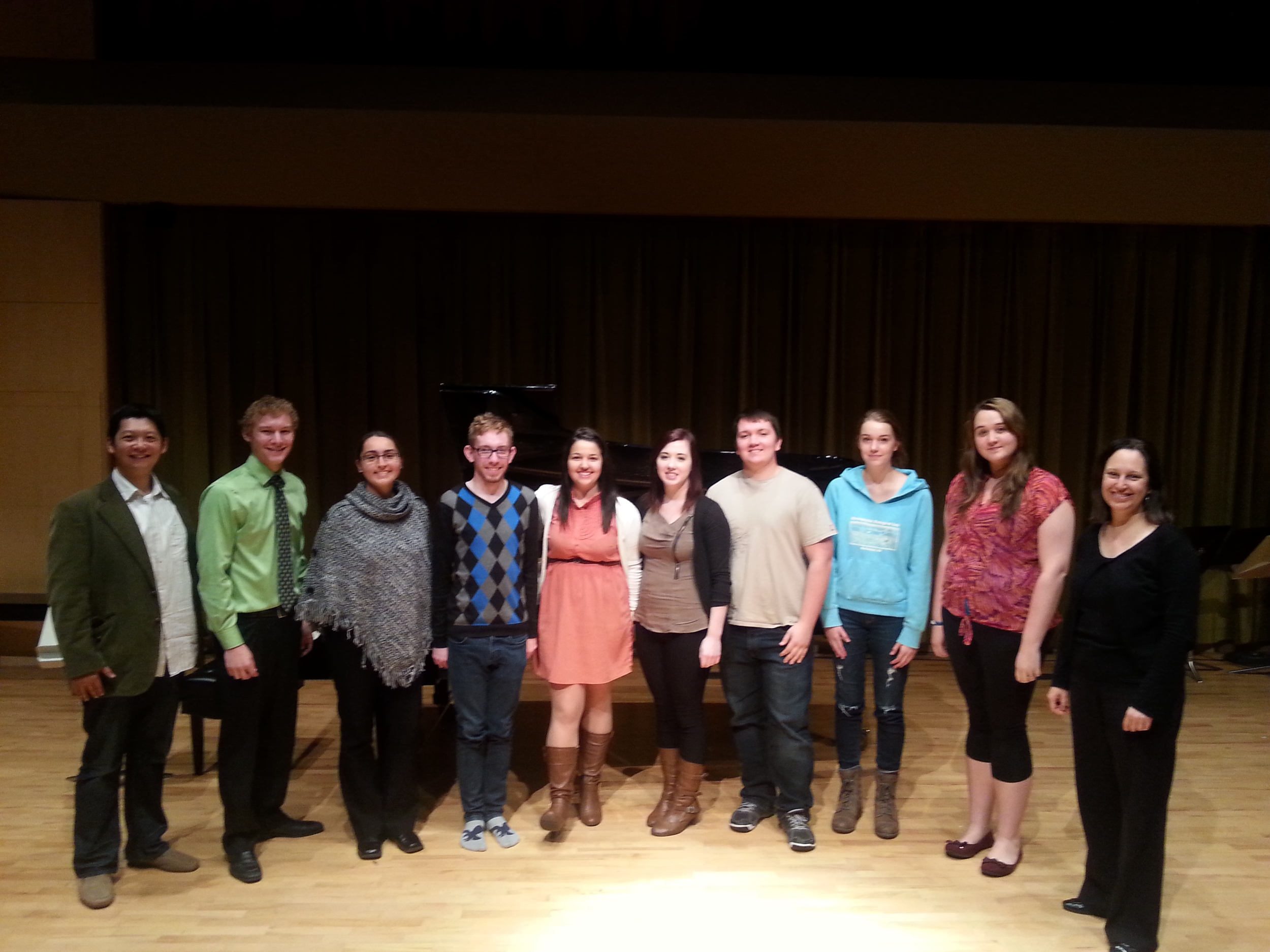 The Memorial University flute studio 2013, with guest Jack Chen.