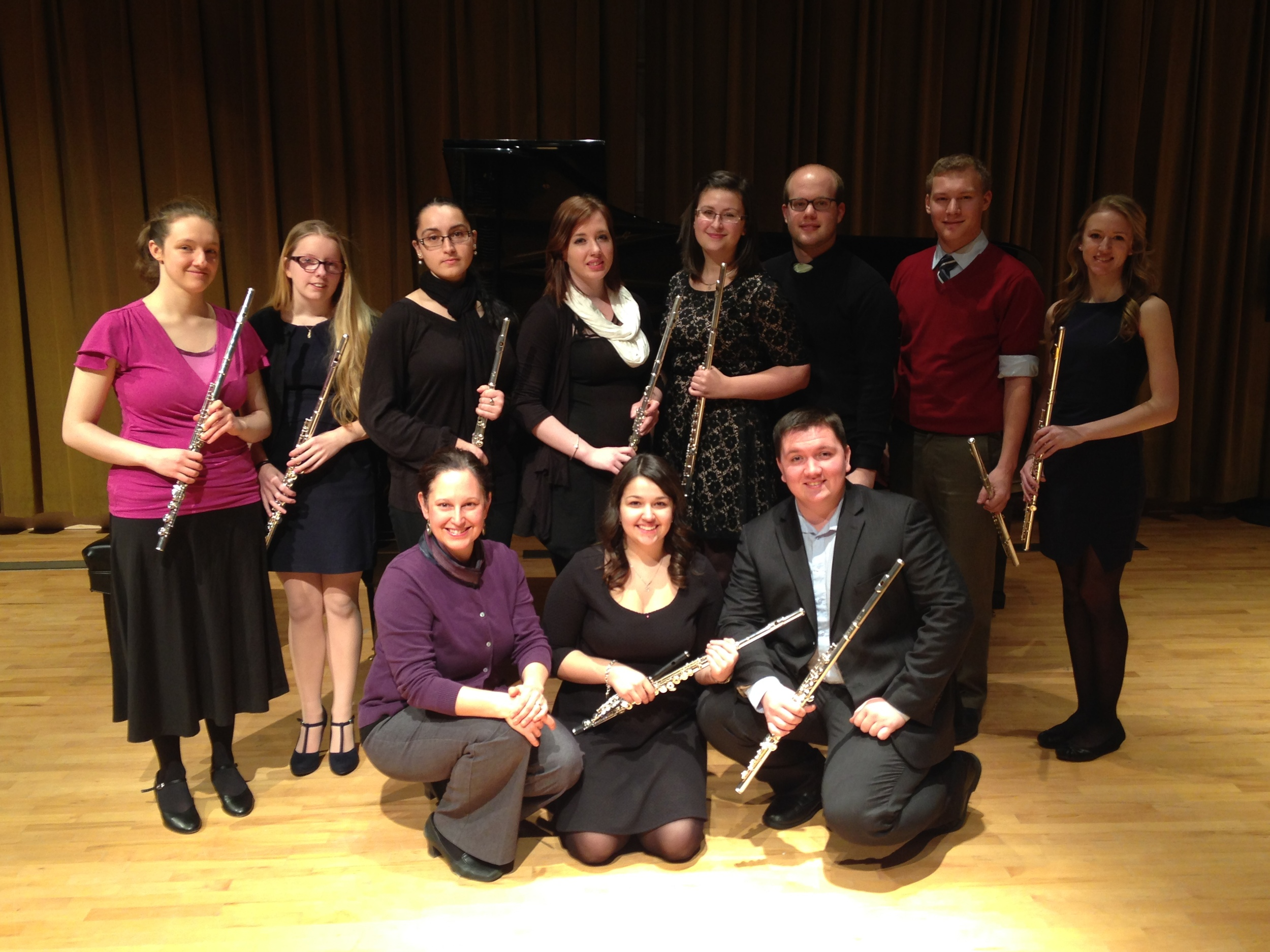The very fine flutists of the flute studio at Memorial University, 2014 edition!