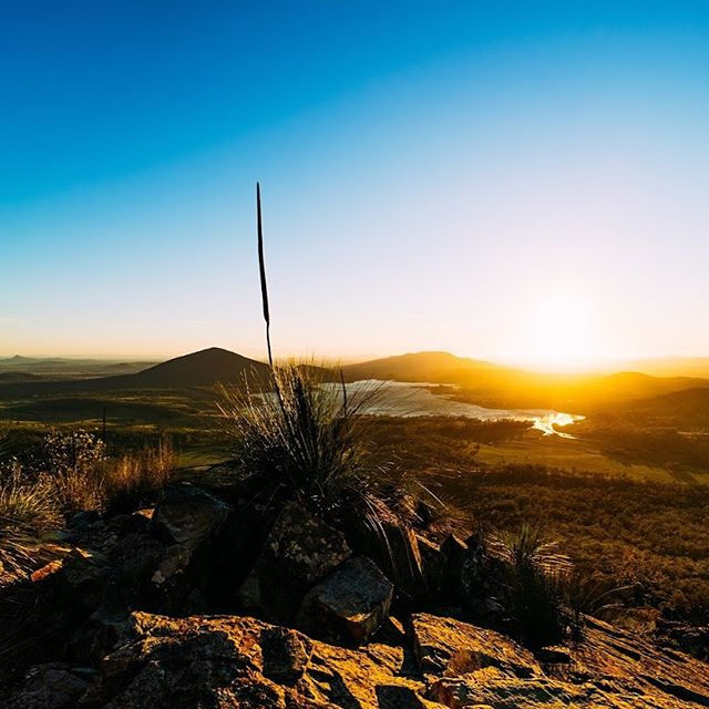 Weekend challenge: Start your day outdoors.  Get grounded and get your pace right by going for a walk or pulling some weeds or sitting out on the deck.  We're fortunate to regularly be out and about for work - Here's a gem from a time lapse a little while ago catching a sunrise.  This is from Mount Greville overlooking Lake Moogerah to the east.