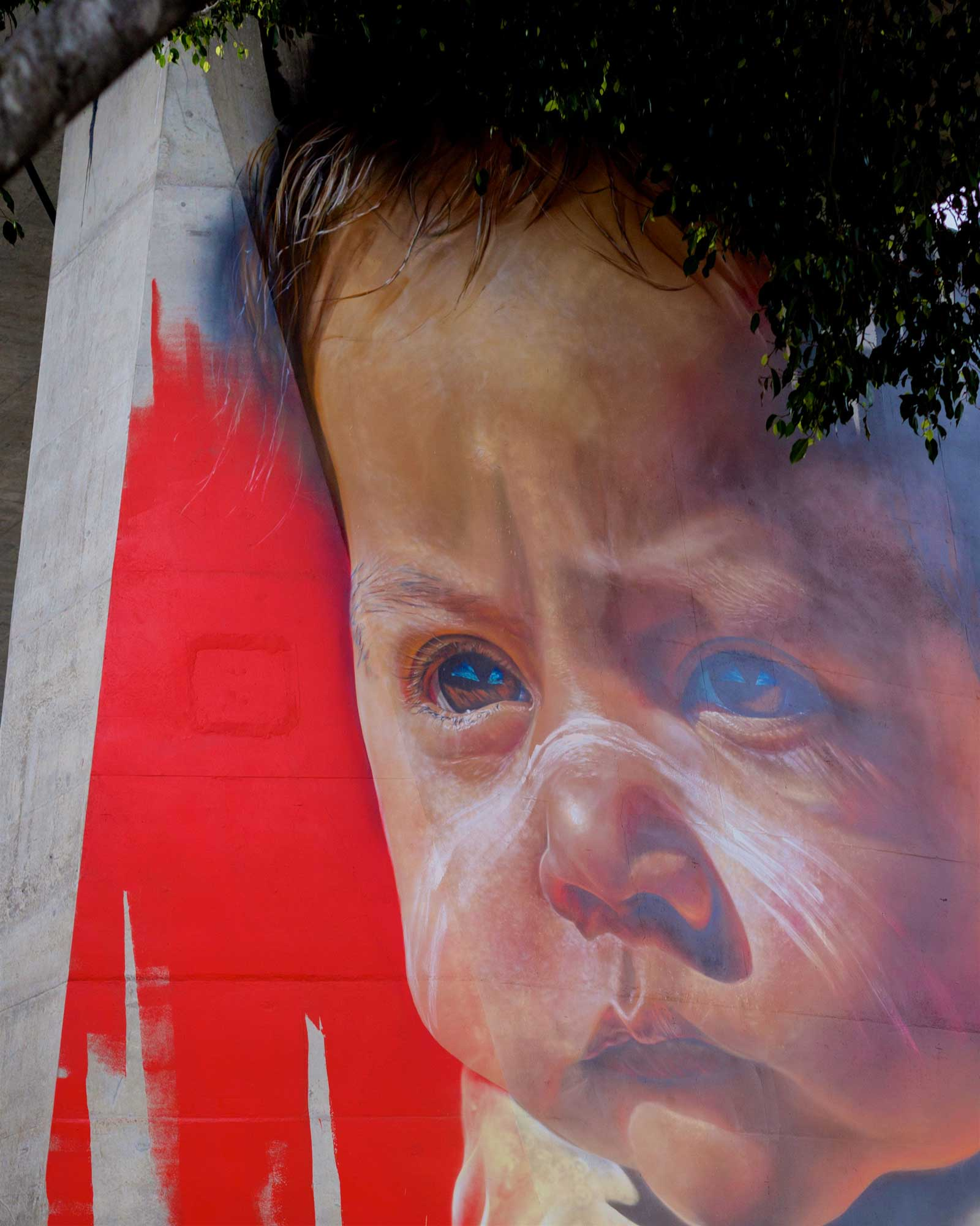 ADNATE - The desire behind painting an indigenous portrait is to connect with each individual viewer on a deeper level, even if it's just for a moment, to provoke emotion, thought, conversation, and bring about awareness of the issues facing Aboriginal people today.See more →