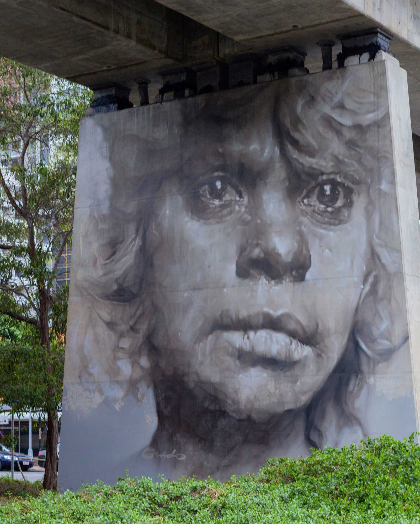 GUIDO VAN HELTEN - Addressing issues of the cultural divide between white and Indigenous Australian cultures in contemporary Australia.See more →