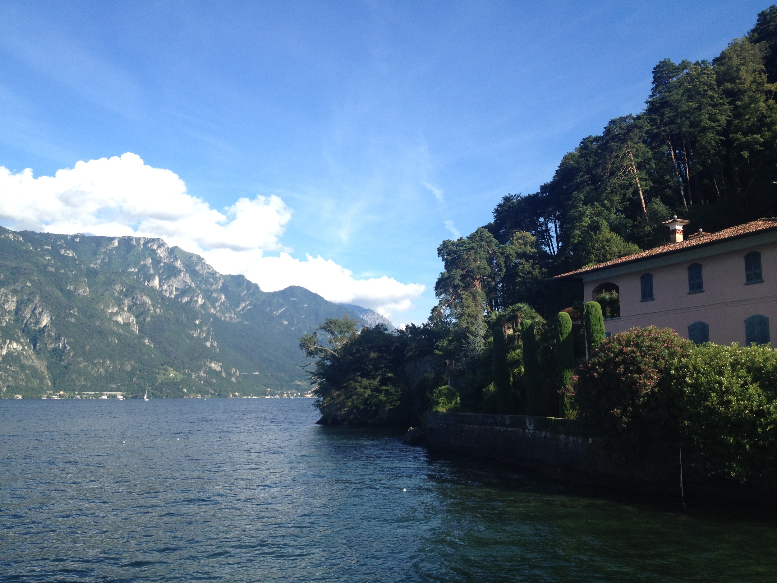 Lake Como. Not pictured: me falling in.