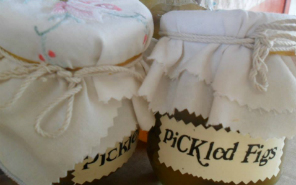 Jars of pickled figs by Aroha Catering