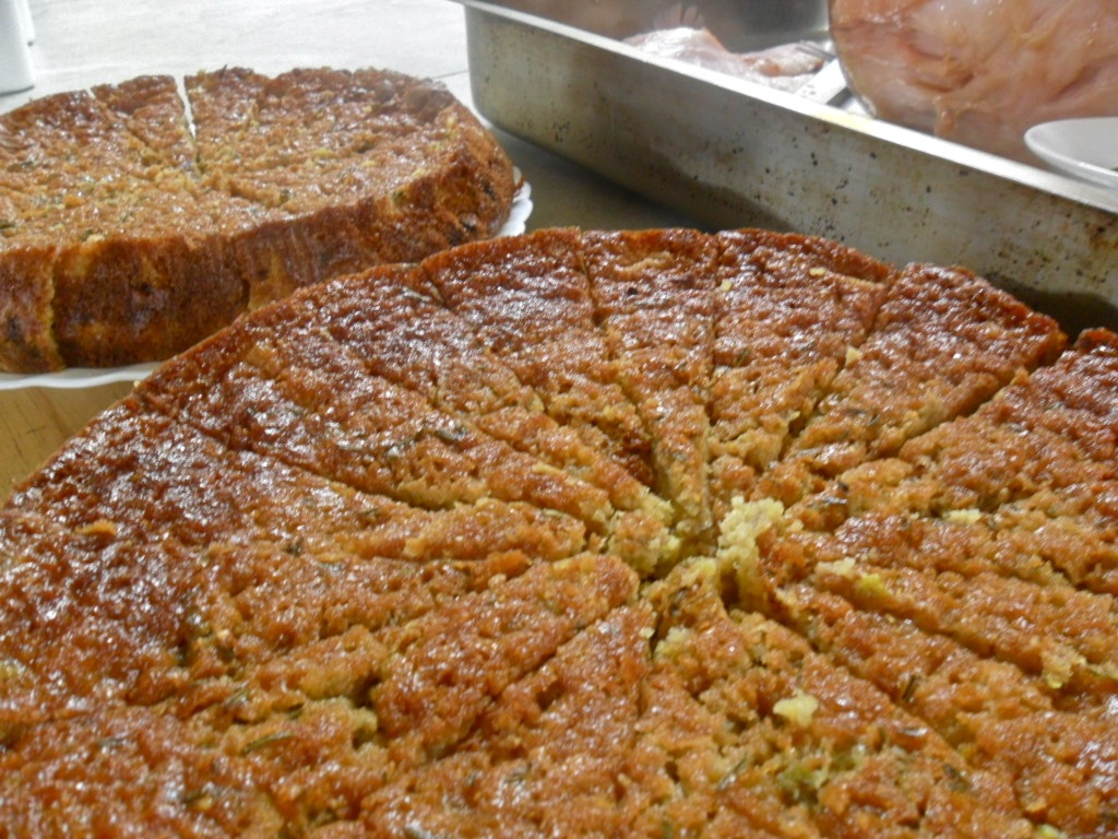 Rhubarb, Rosemary and Polenta Cake