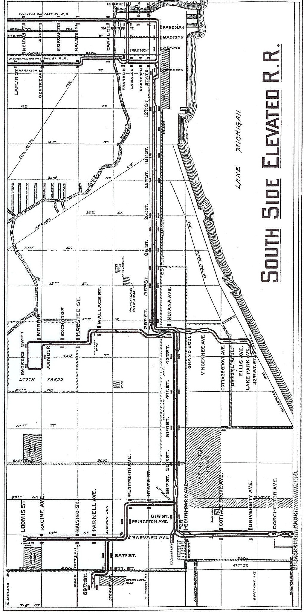South Side Elevated Railroad - 1913