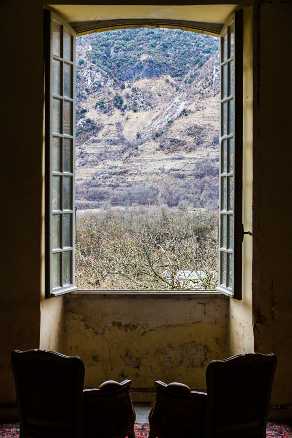 Come.  Sit with me.  Together we will watch the passing of time. Somewhere in time 1.14 Chateau de Gudanes Chateau Verdun, France February 2017