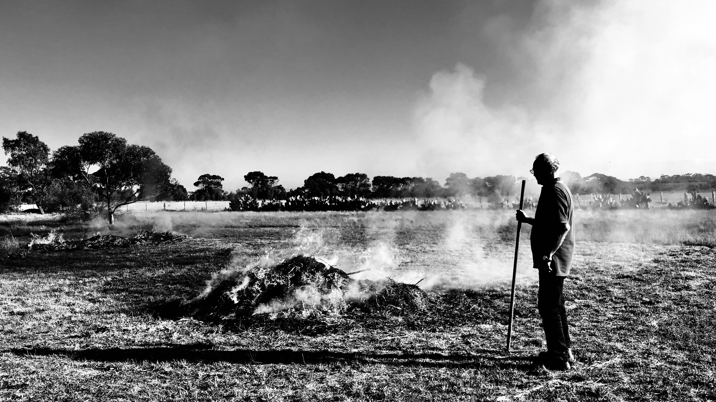Keeping the home fires burning Diggers Rest VIC Australia June 2018