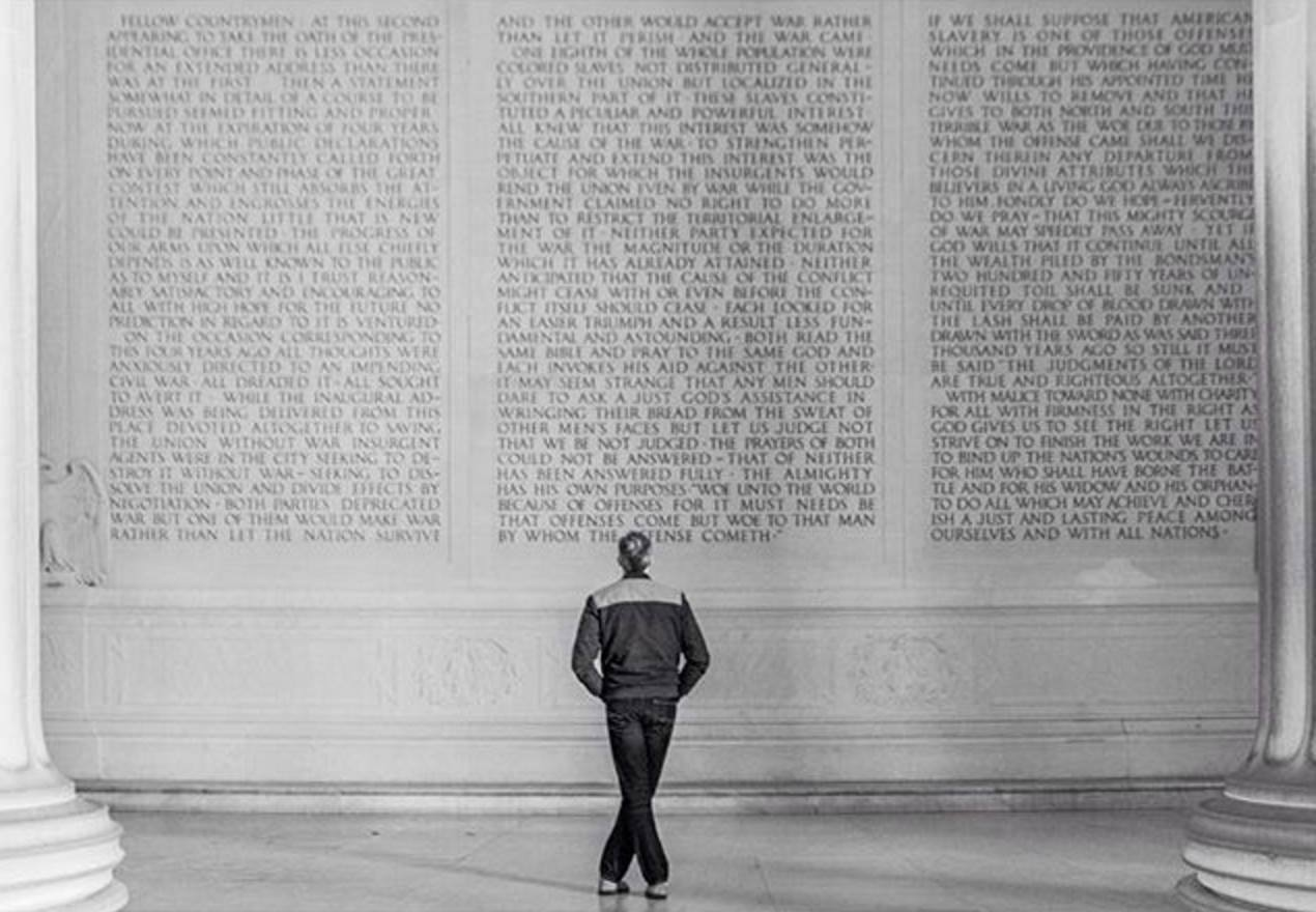 And still, to this day, your words loom large. Lincoln Memorial Washington D.C. USA December 2015