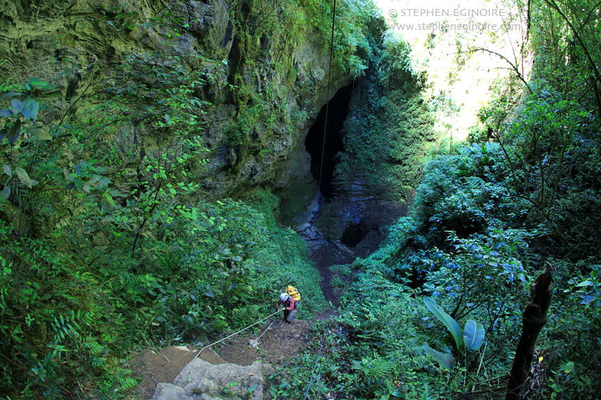 "The beginning of the long descent into San Agustín starts with the verdant and beautiful ""Jungle Drop""."