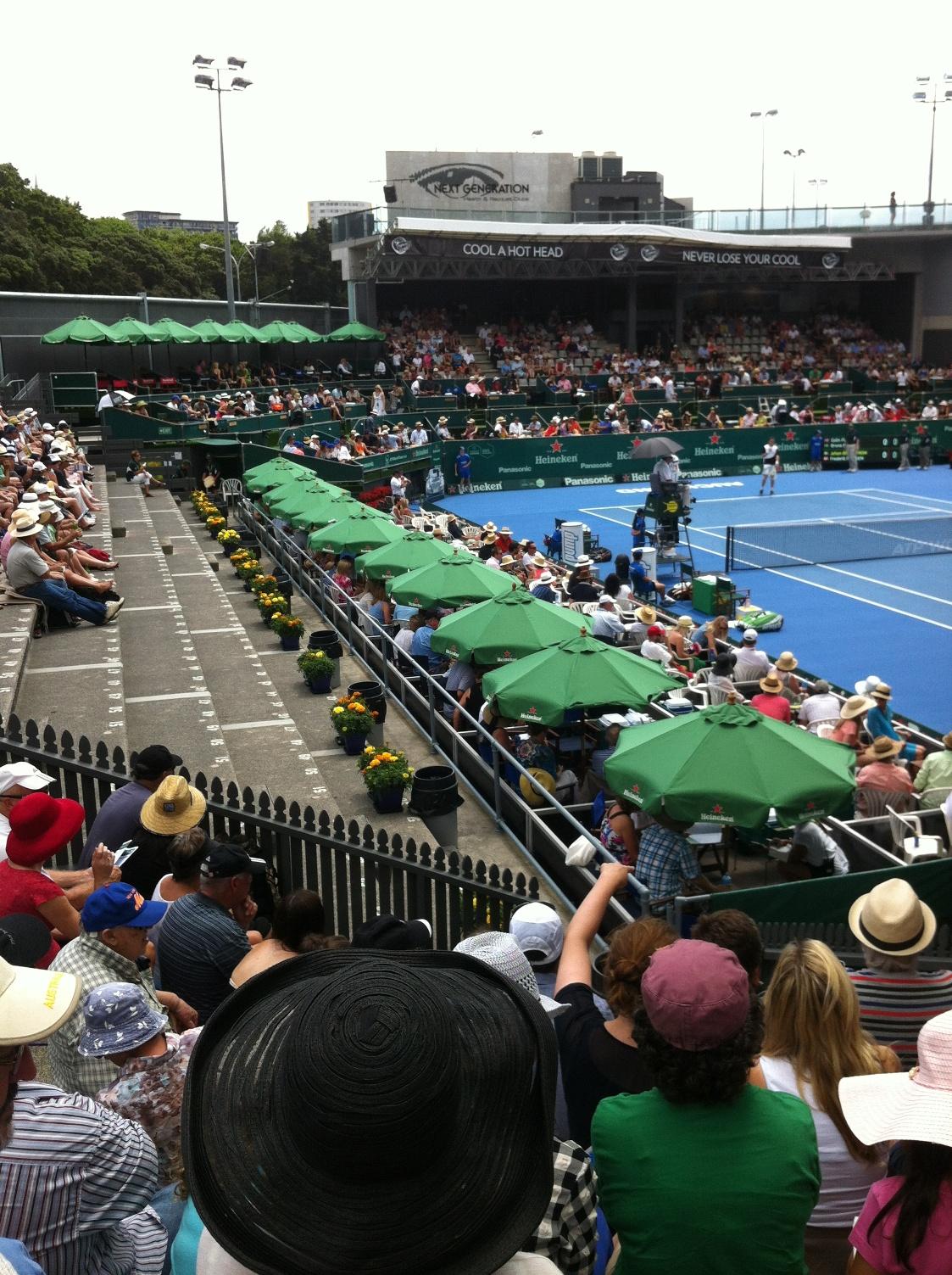 View from Yock Stand, Heineken Tennis Mens Final 2014