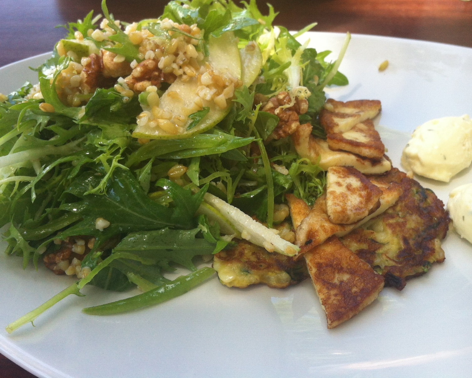 The Riverhead's haloumi pear and rocket salad