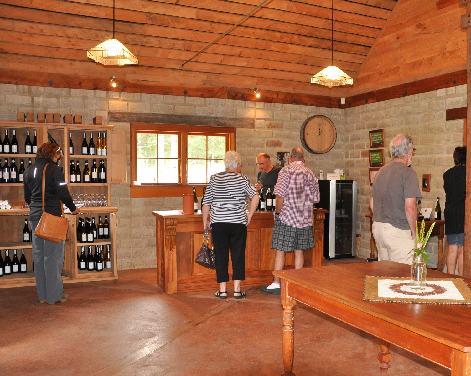 Tony, the winemaker taking guests through a wine tasting