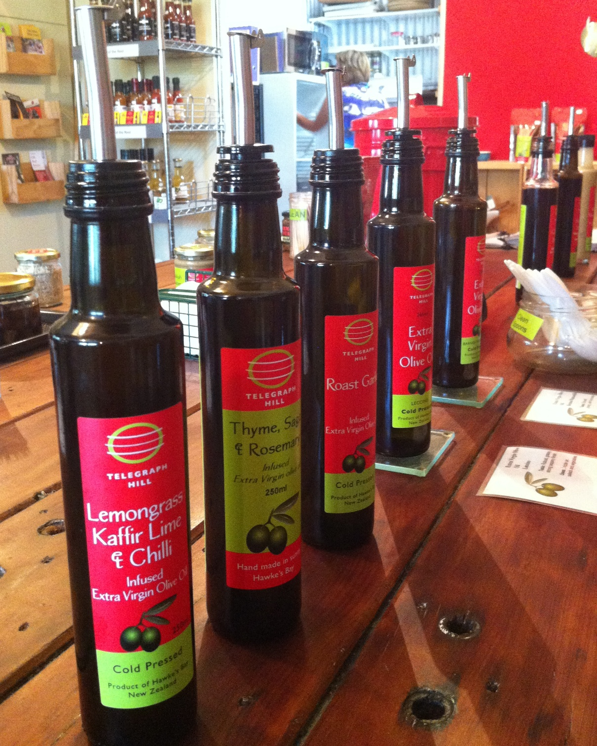 Telegraph Hill olive oil tasting
