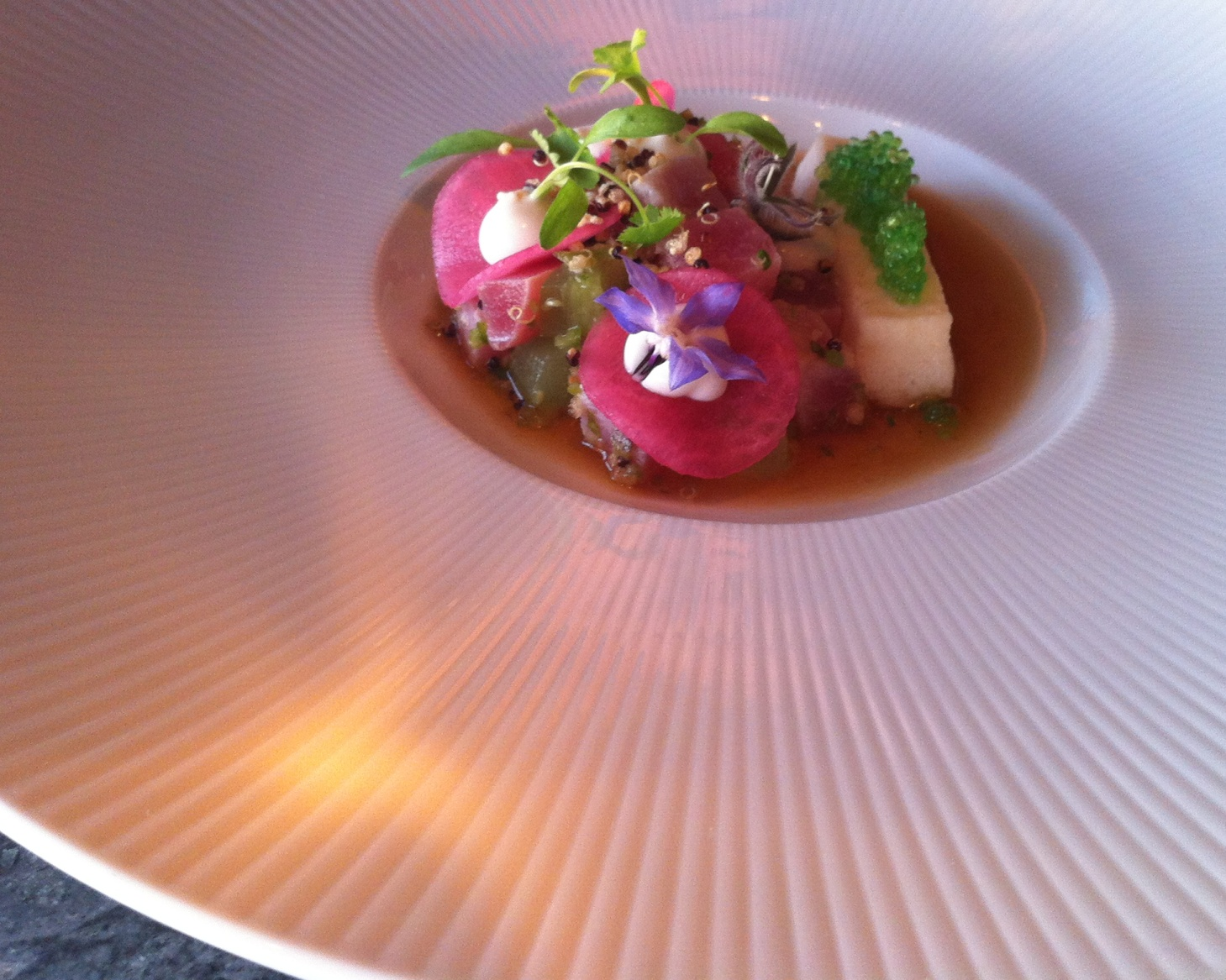 Seared pacific tuna