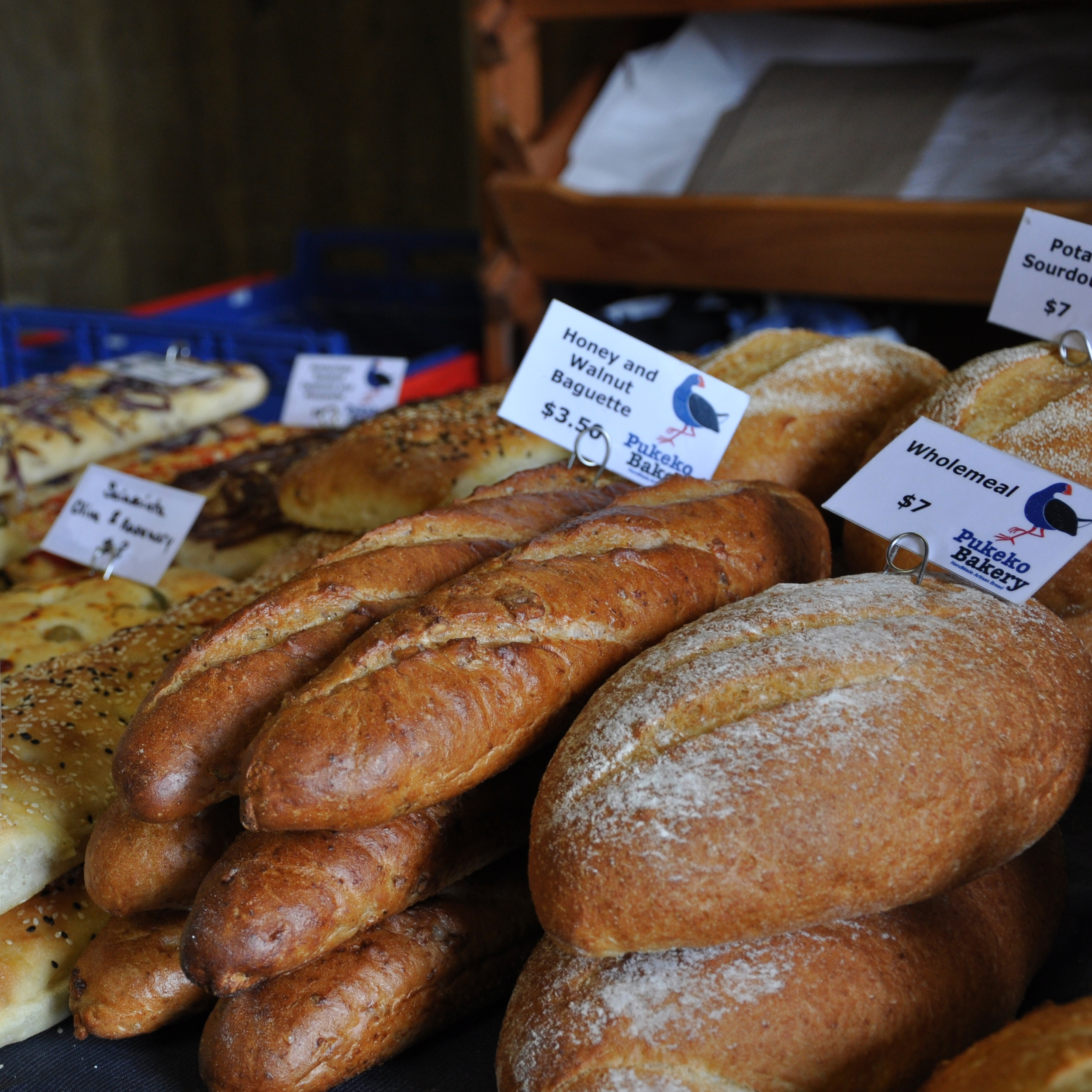 Pukeko Bakery breads available at Clevedon Farmers Market and La Cigale