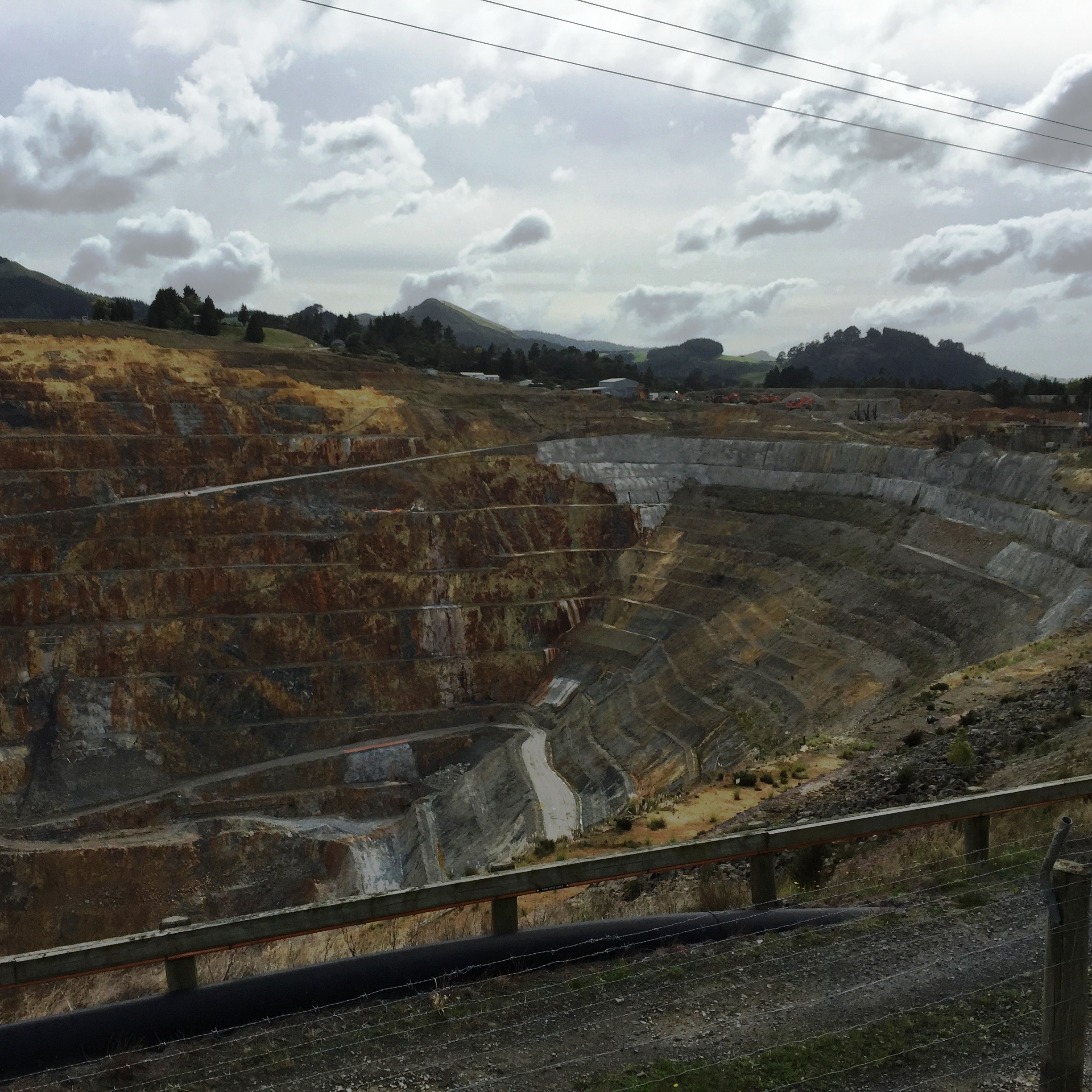 Waihi Gold Mine - view from perimeter