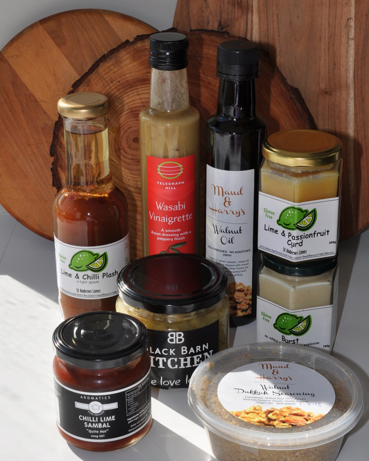 Products from a few Hawkes Bay food producers
