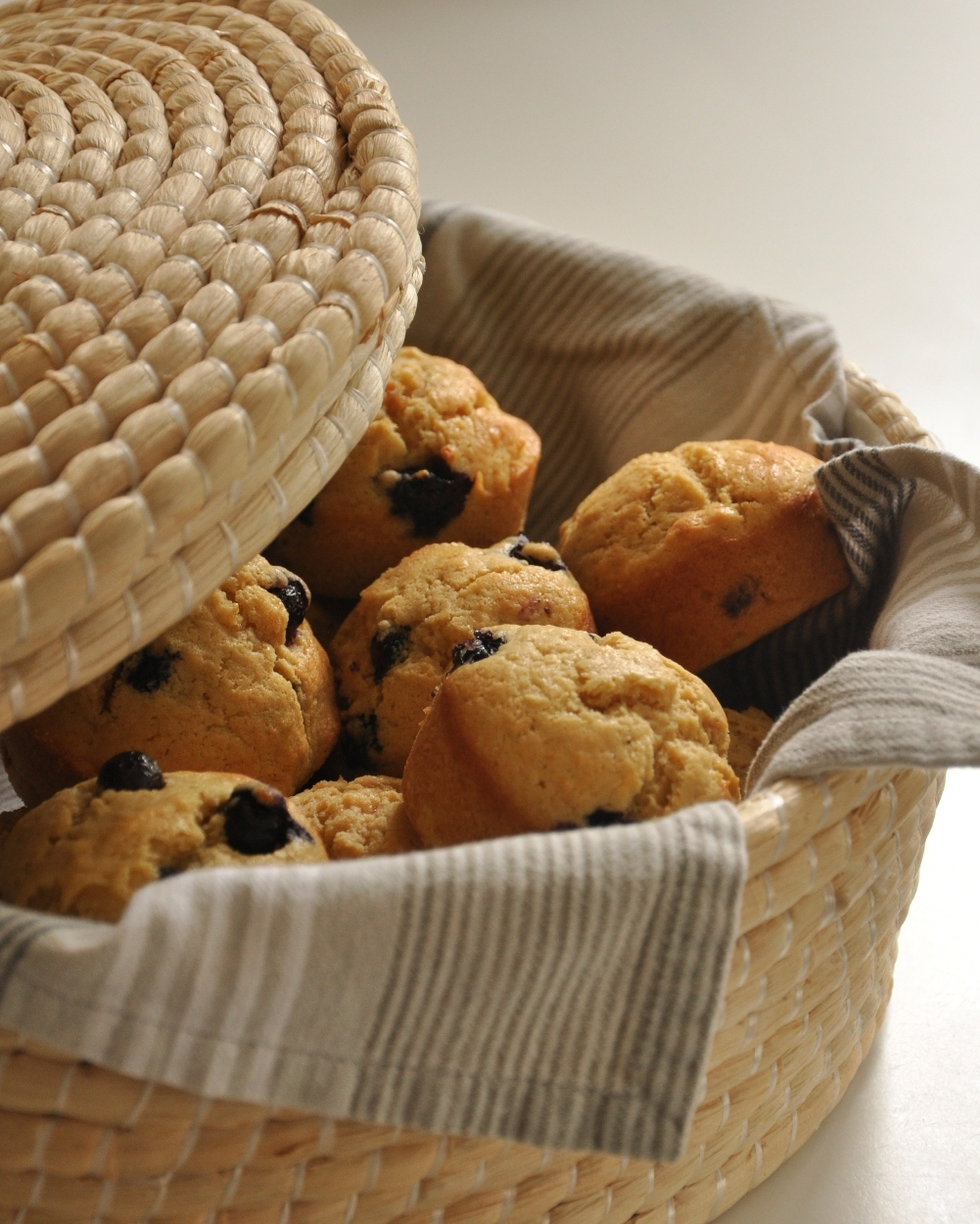 Warm blueberry muffins
