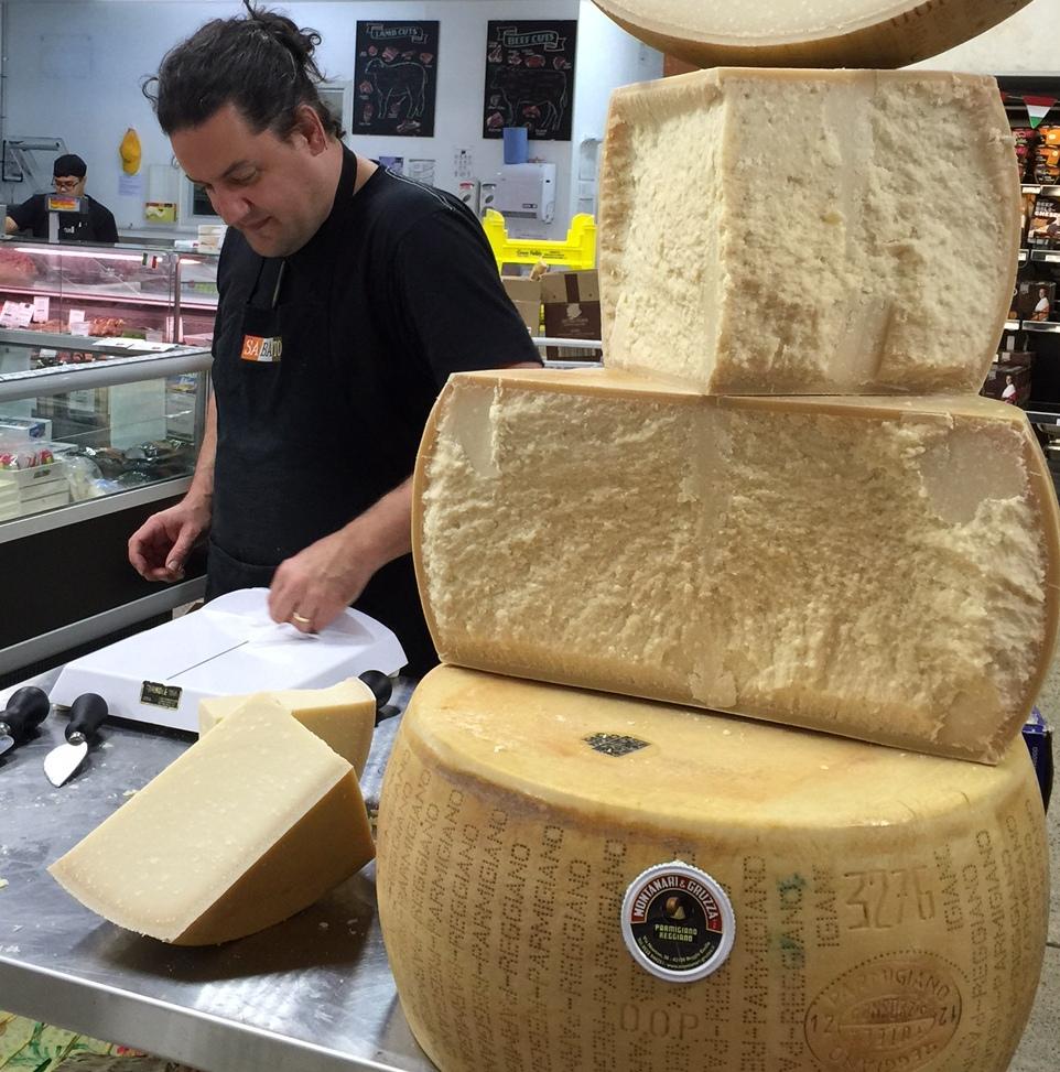 Calum and the Parmigiano Reggianopyramid