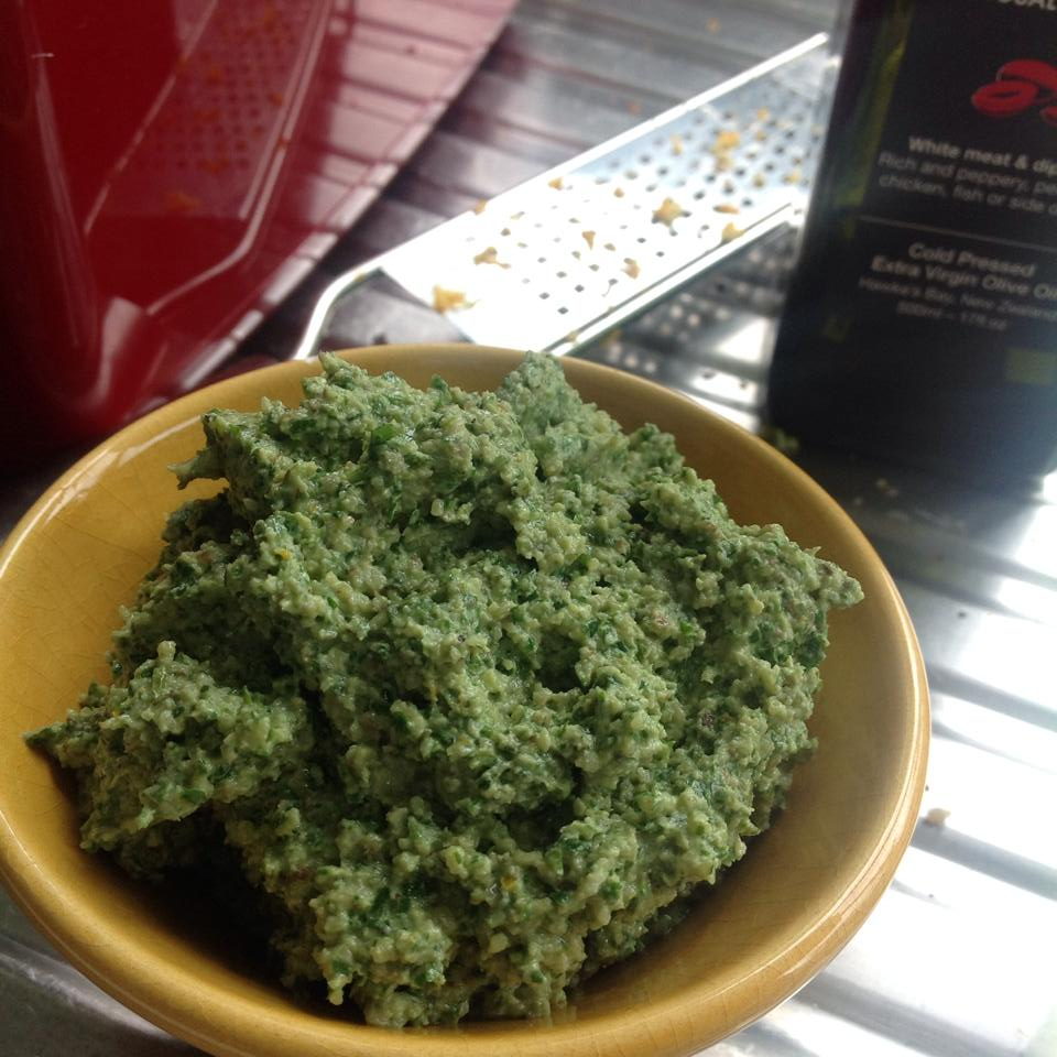 coriander walnut pesto