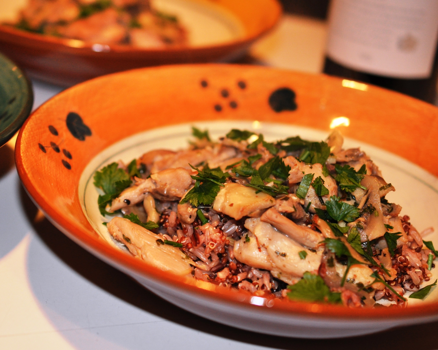 Chicken with mushroom and tarragon