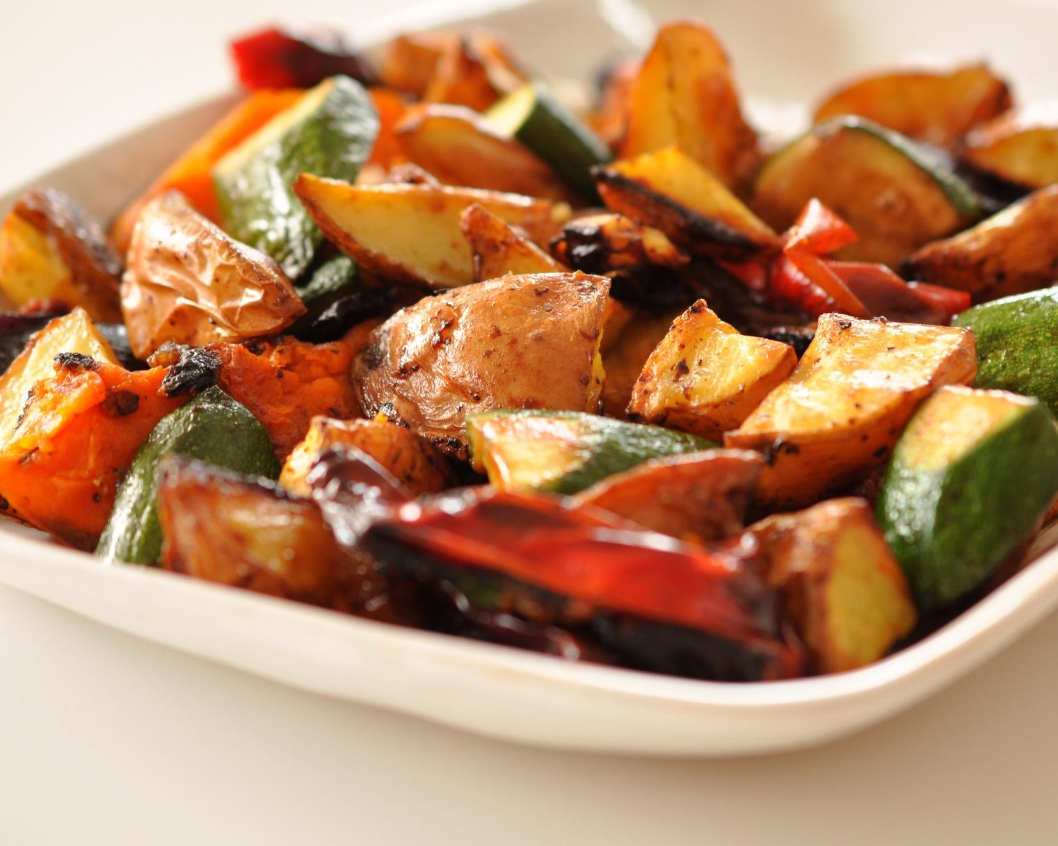 Simple roast vegetable salad