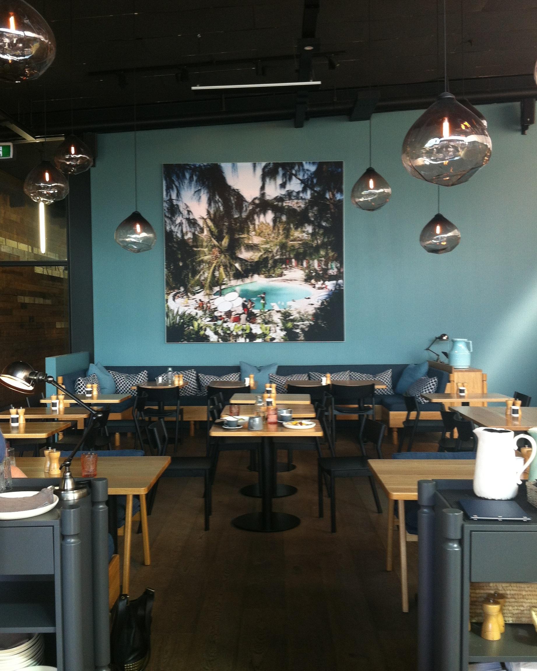 Lovethe interior ofOdette's Eatery