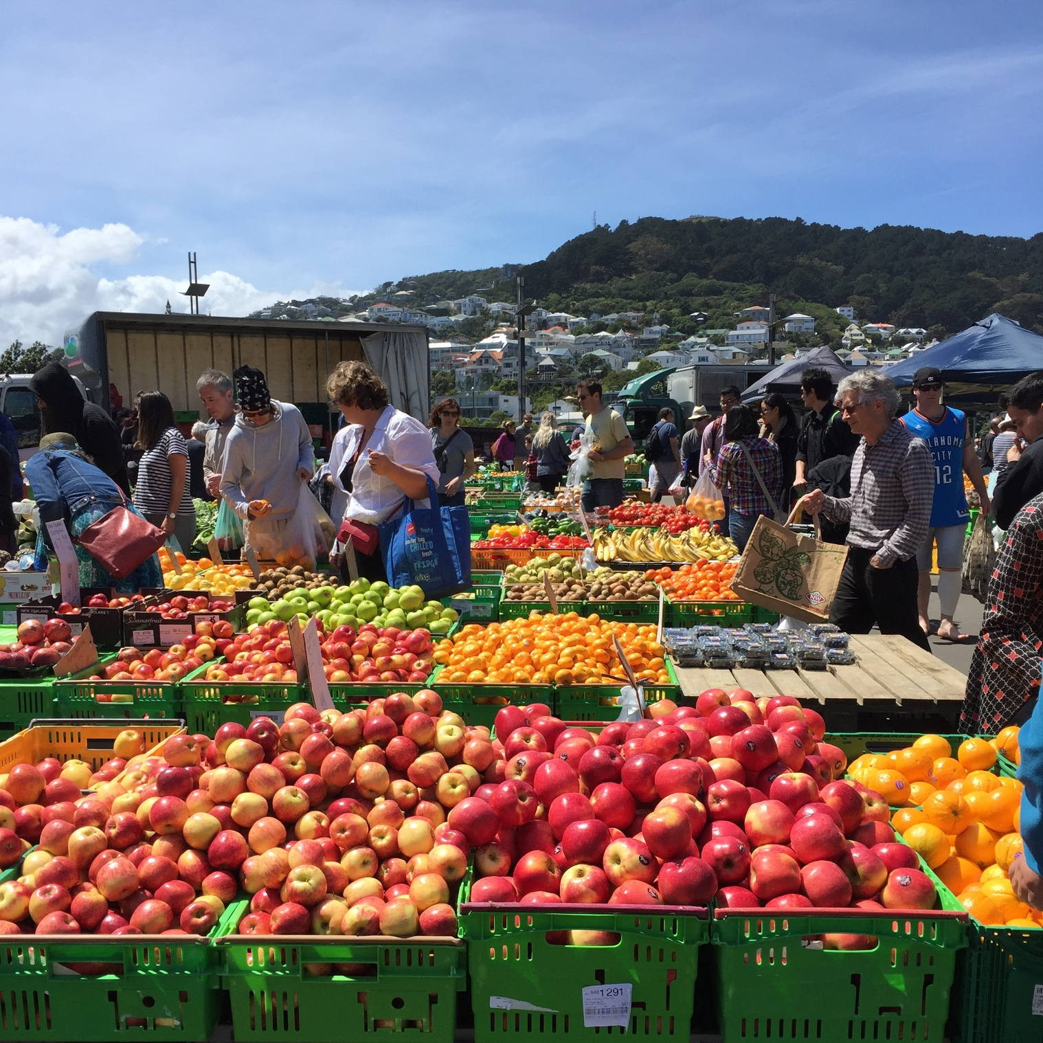 Fresh fruit and vegetables from Harbourside Market