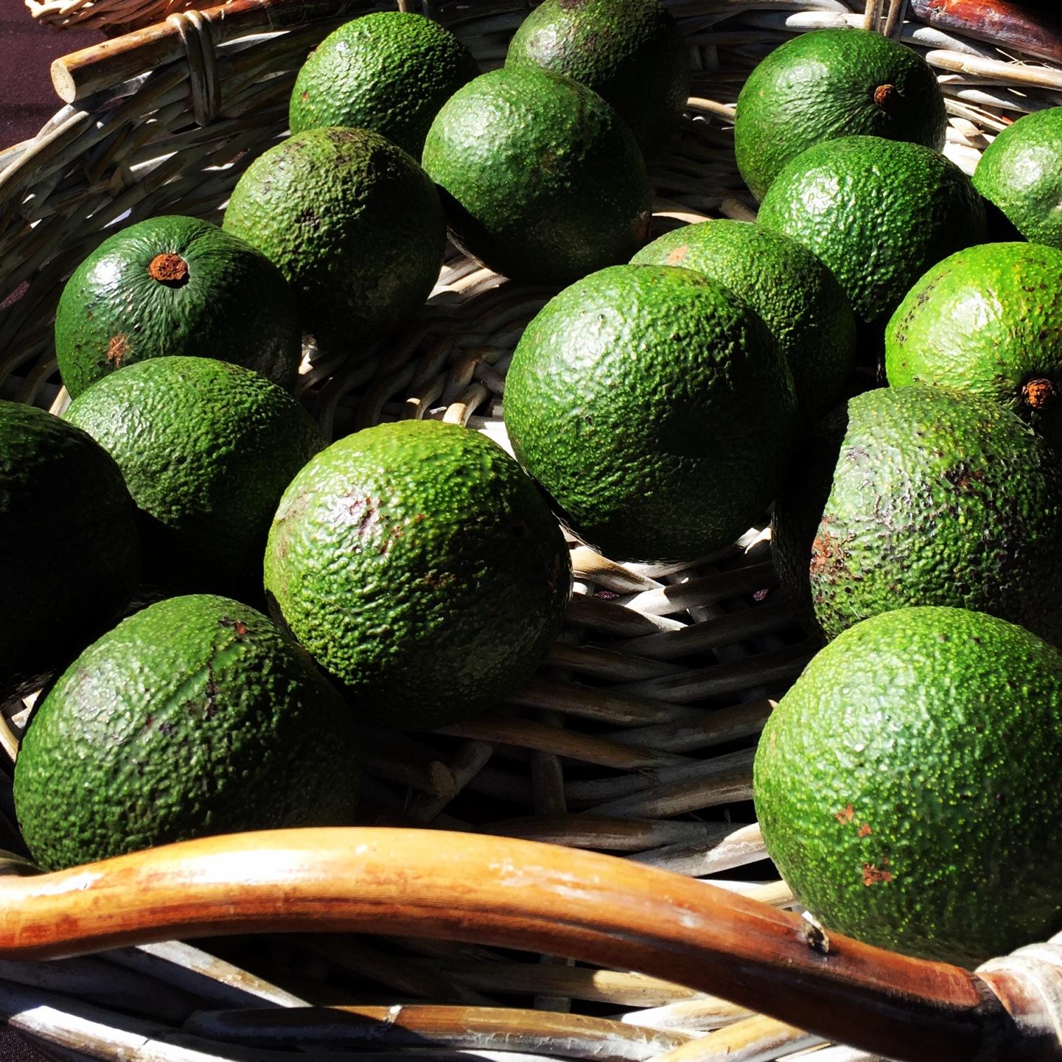 Local avocados of course