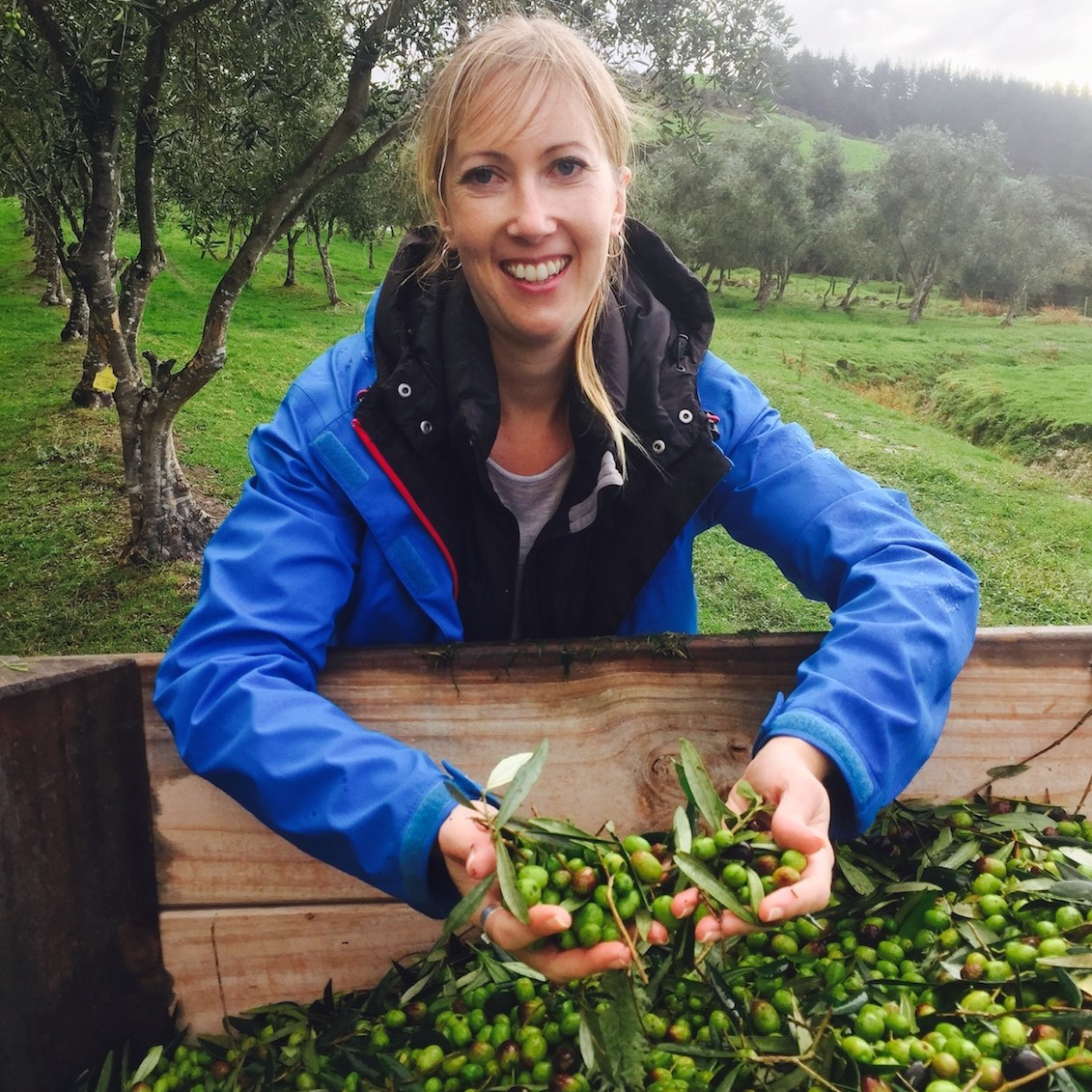 Nicky has her hands full at harvest time