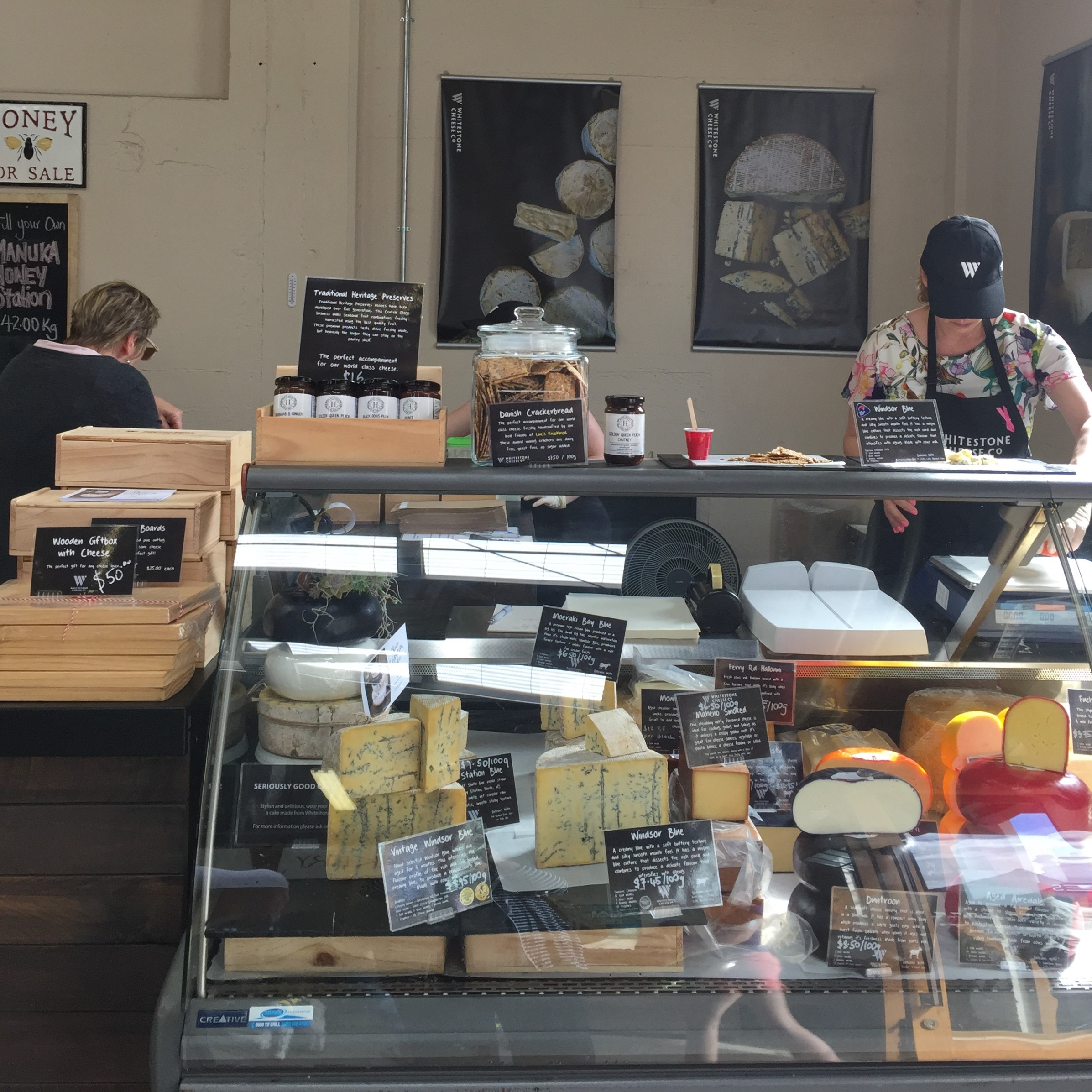 A cabinet full of Whitestone Cheese