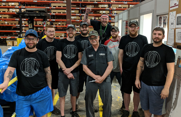 Pictured L to R: Anthony, Nathan, Chris, Adi, Keith, Mark, Tyler, Andy and Adam. Not pictured: Lance.