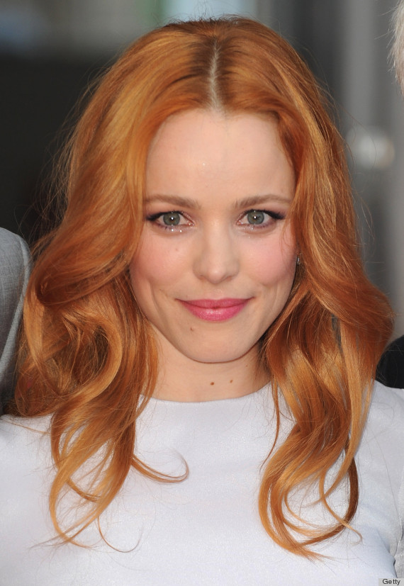 Rachel McAdams went red this month, it's insanely amazing on her