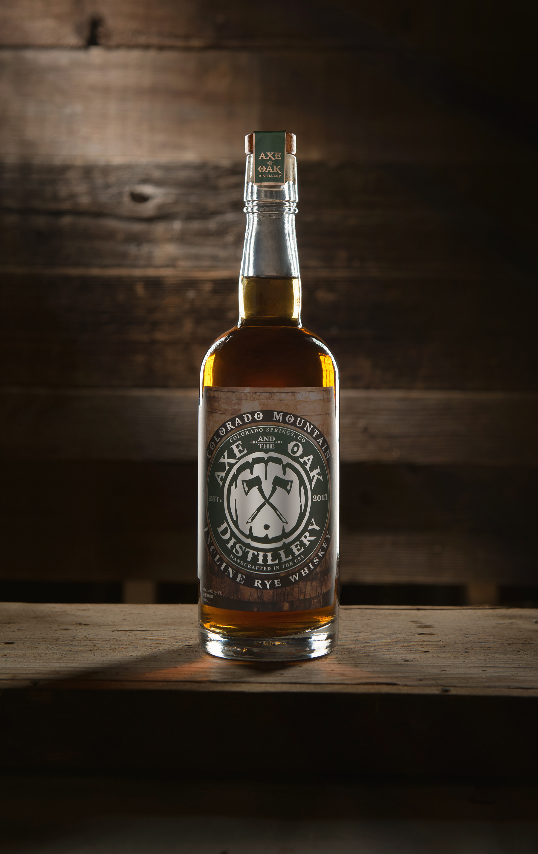 Axe and the Oak Colorado Mountain Incline Rye Whiskey