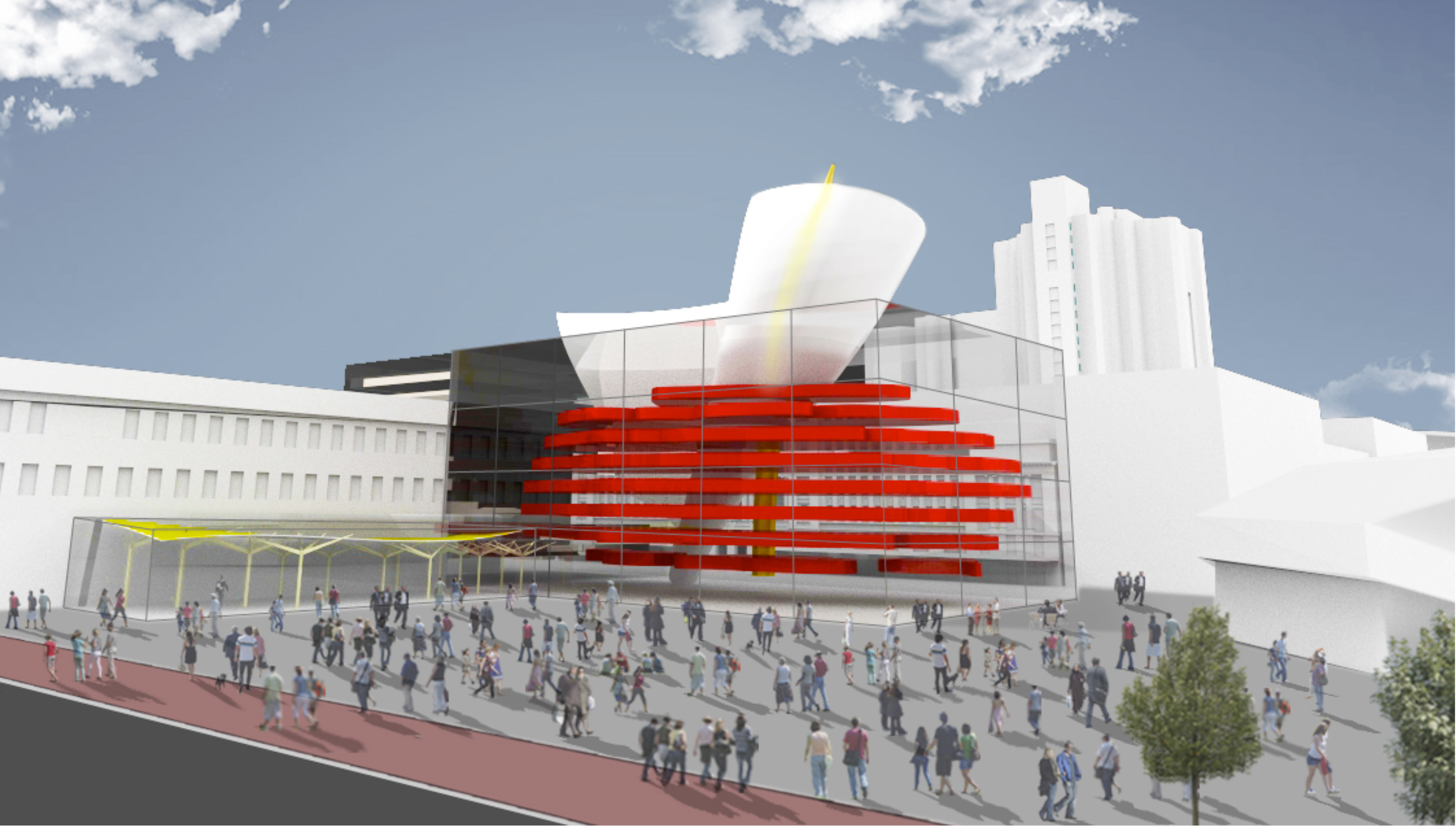 A new hotel and art complex aim to activate the plaza behind Parliament house