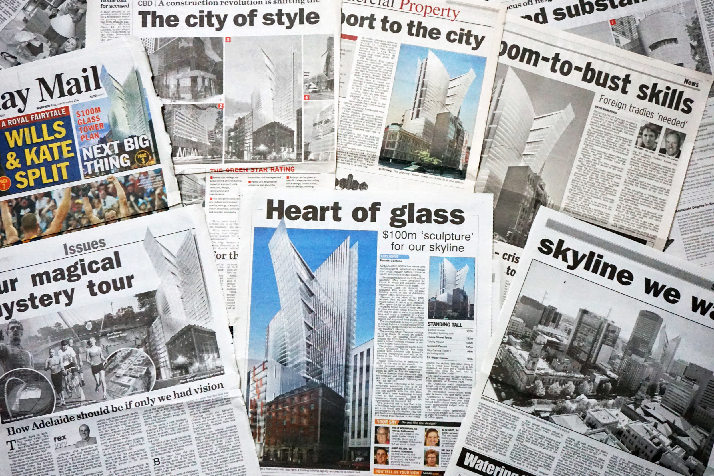 The skyscraper was a big hit with the media and with locals, continuingto be so to this day