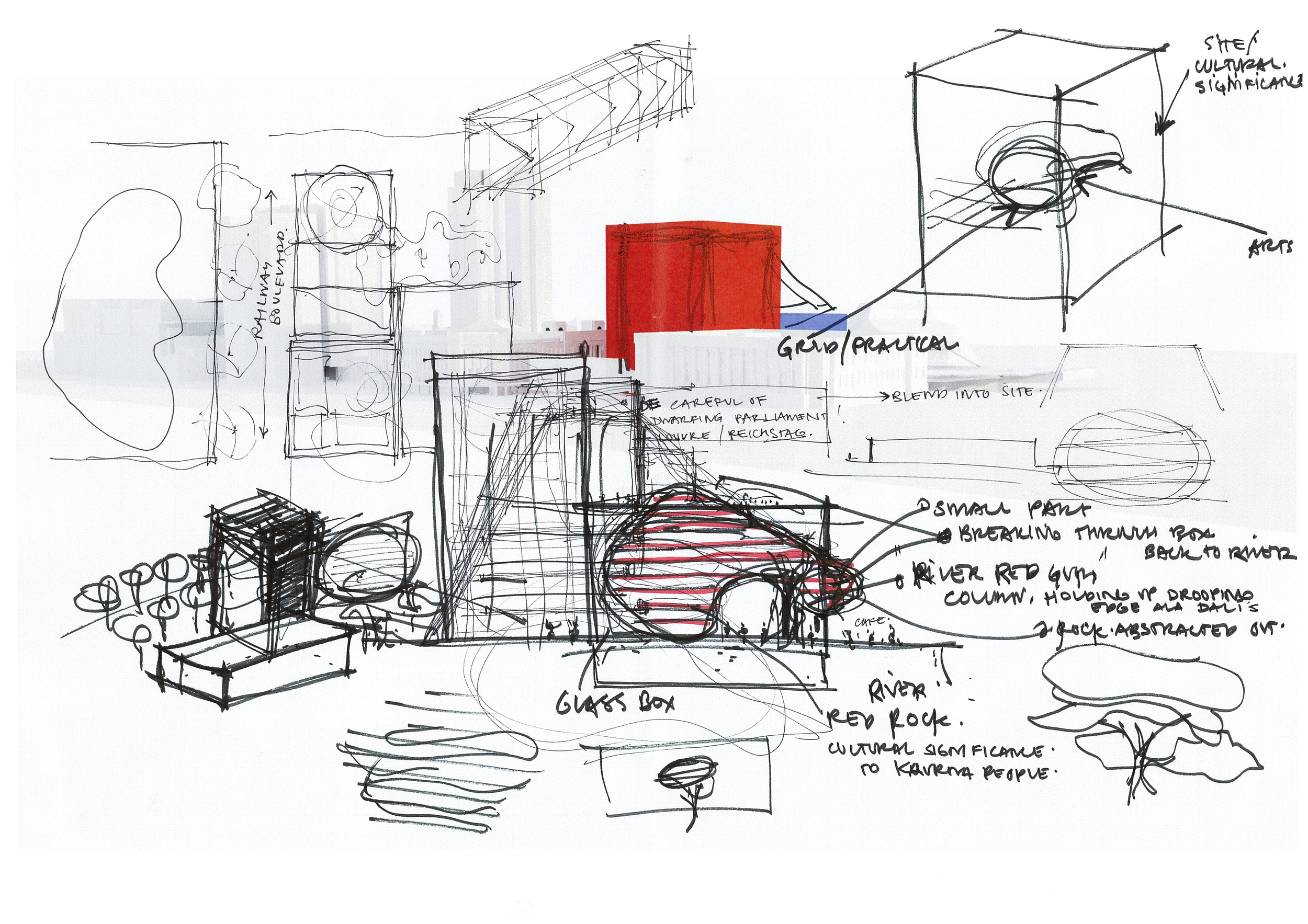 Initial sketch designs show the form generation take shape