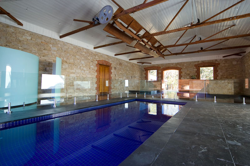 In an exercise in luxury, an internal swimming pool is also a key feature