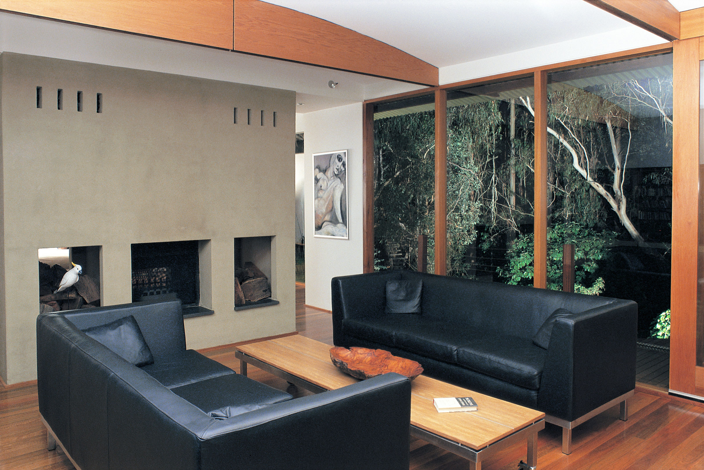 The natural environment provided the best canvas for art in the living room
