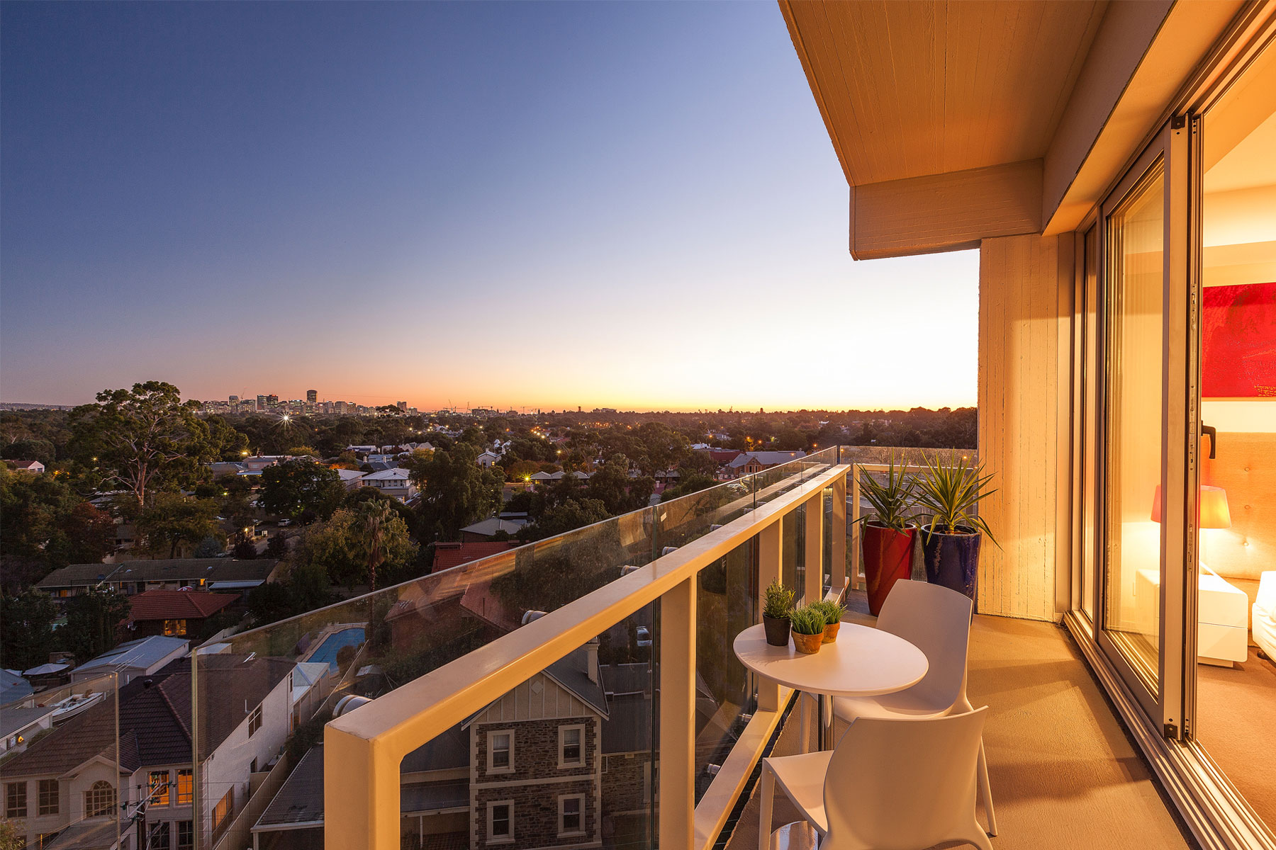 Stunning views of the city of Adelaide greet visitors and residents