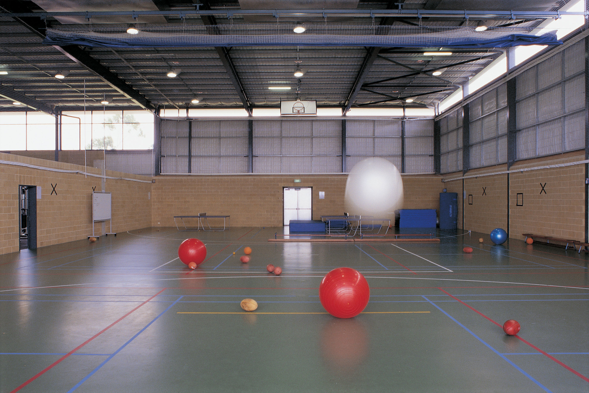 The gymnasium within allows for all-weather training