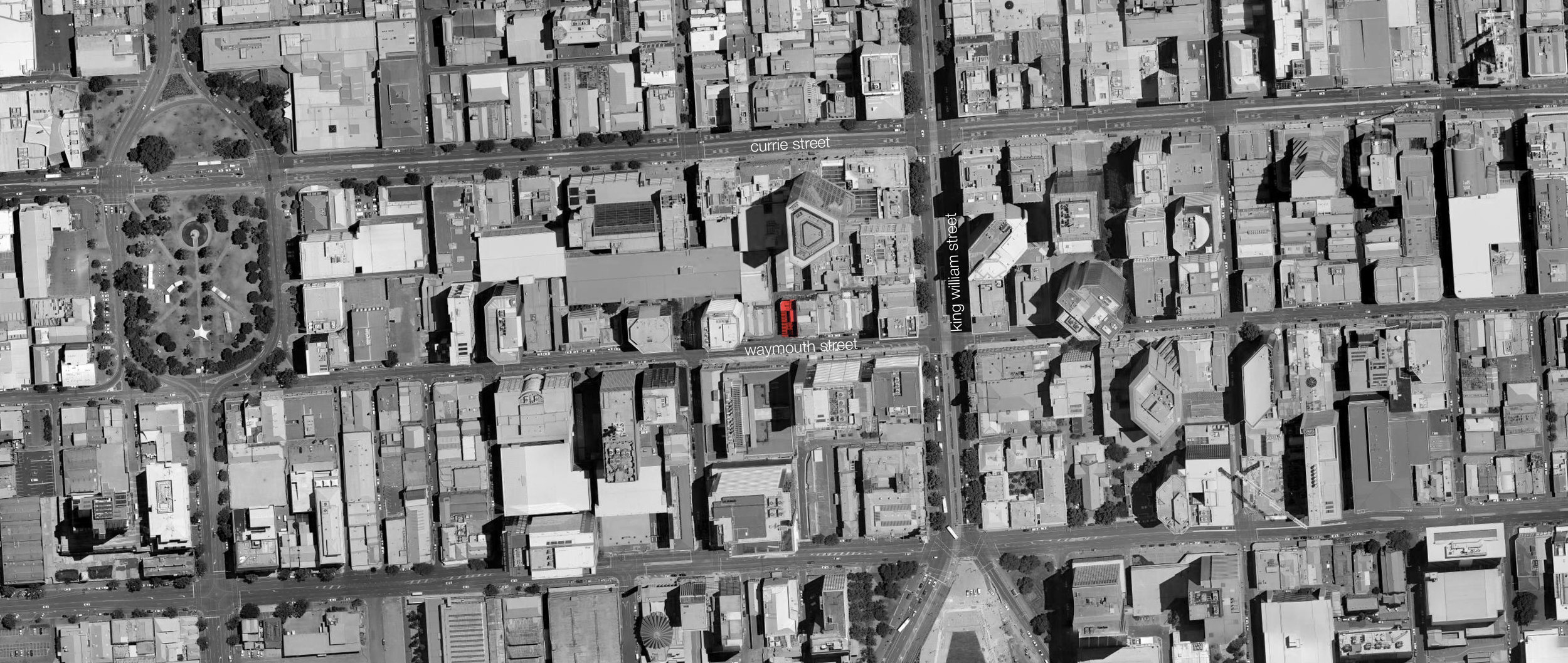 The site is located within a previously inactive (now thriving) region of Adelaide's CBD