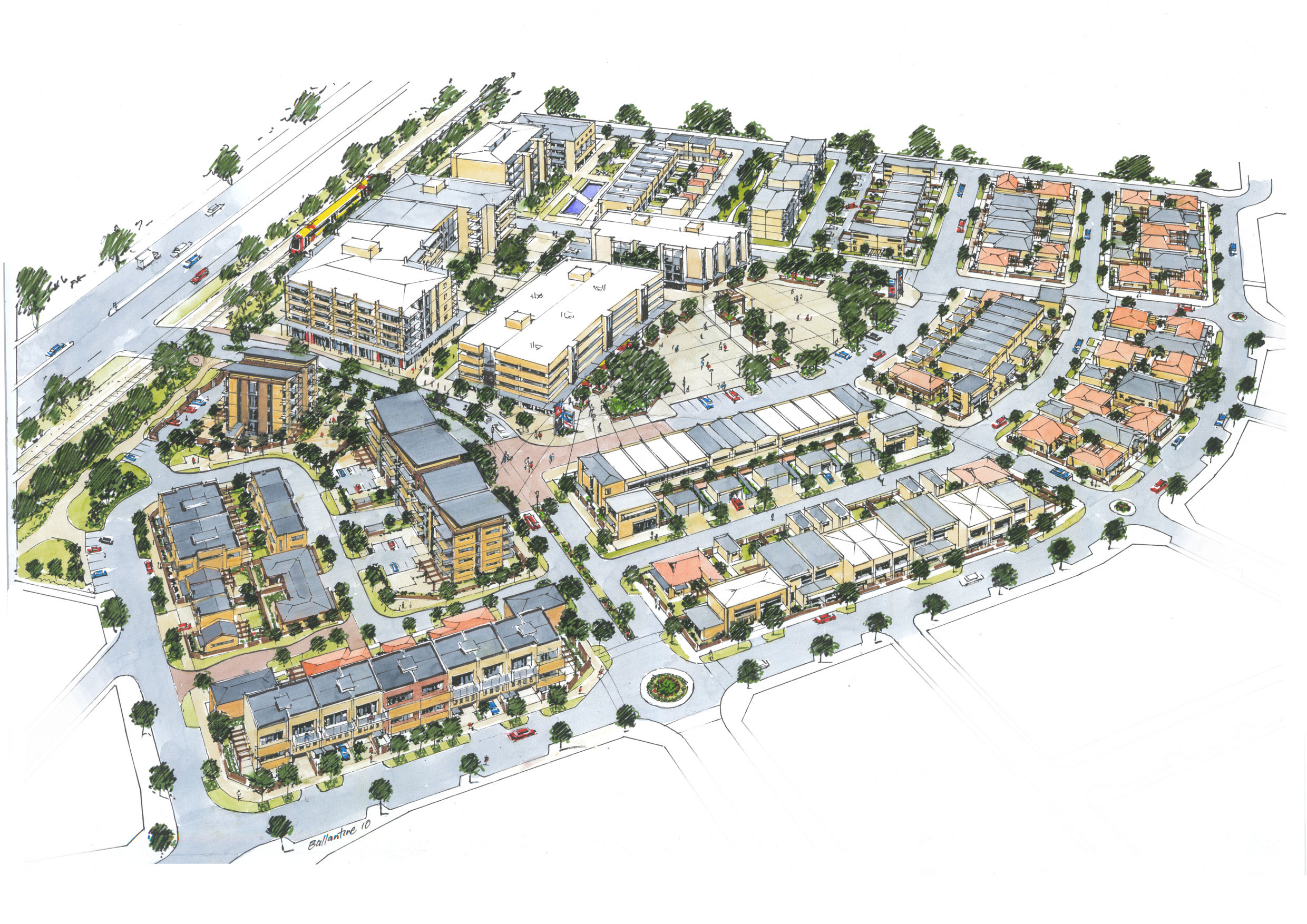 The Masterplan sketch details the emphasis on community and social interaction