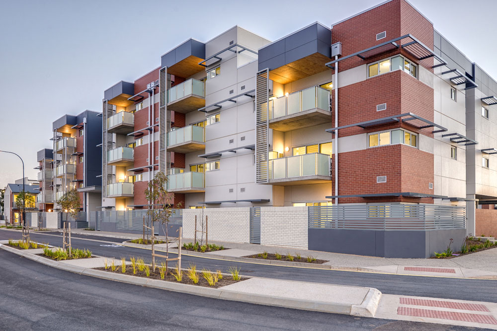 A variety of floor-plans enables maximum diversity of tenants