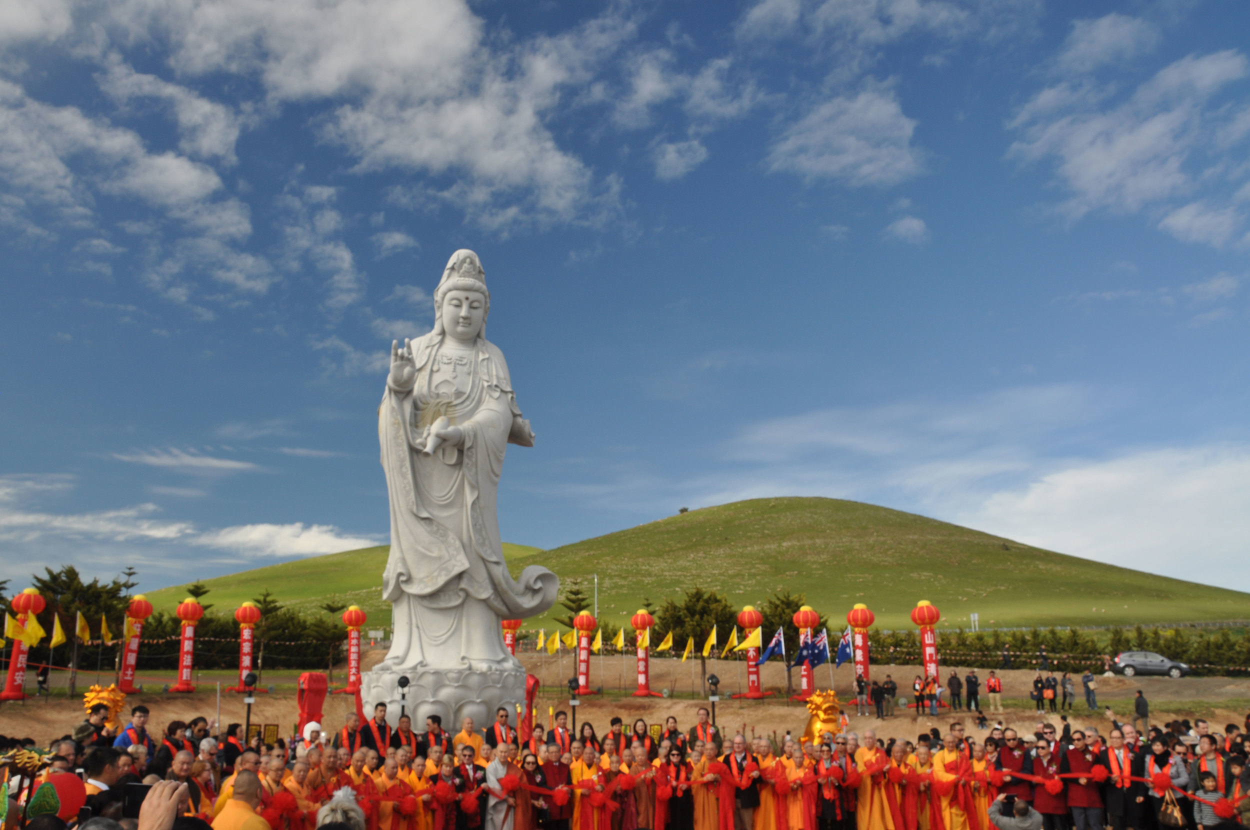 Pictures from the officiation and blessing of the Kuanyin statue at the Nan Hai Pu Tuo Buddhist Temple and Retreat