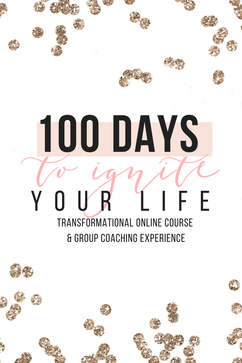 100 Days toIgnite Your Life - TRANSFORMATIONAL ONLINE COURSE & GROUP COACHING EXPERIENCEThe 100 Days to Ignite Your Life course gives you the tools, teachings and calls to action that will empower you to transform AND take your life to new heights.The course is broken up into 15 modules—each representing a vital aspect of life—from creating VISION + CLARITY around your goals and future, to optimizing your health, habits and relationships.Modules are designed to be completed on a weekly basis, to take you through the full 100 days for a truly transformative learning & life-giving experience.As you go through each training, you'll be given assignments to help guide you through implementing and putting into practice what you're learning so that the magic happens!Through these modules and weekly inner work assignments, as well as group coaching calls, I'll help you go from feeling STUCK to UNSTOPPABLE in 100 days.
