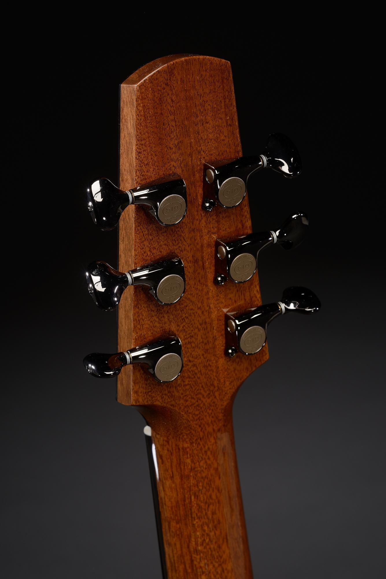 Traugott Model R quilted mahogany guitar
