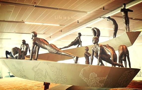 Surya Namaskar sculpture at Indira Gandhi International Airport
